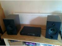 Wharfedale Active Speakers with Kenwood Pre-amp​