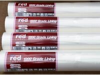 4 Rolls of Red Label Lining Paper 1200 Grade Unopened Cost New £20.00