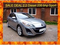 Mazda 3 Sport 2.2 Diesel 2010 Remapped to 235 bhp very fast 5dr