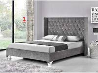 NEW Fabric bedframe - Various models - Double / kingsize