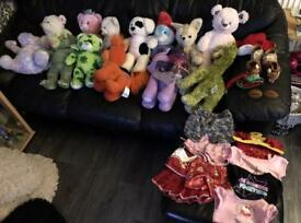 Build a bear large lot toy bundle 13 bears and clothes