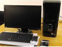 """WOW Gaming Dell XPS 430 Quad Core Gaming Desktop Computer PC With Benq 22"""" Widescreen"""
