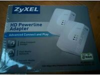 Brand new! 500mb Zyxel Homeplug Twin Pack