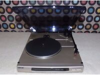 SONY PS-J10 Semi-Automatic Belt-Drive Mini Turntable with built-in pre-amp.
