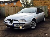 Stunning Alfa Romeo 156 sports tourer 2.0 165bhp, MANUAL. RARE RED LEATHER