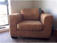 John Lewis Cooper Leather Armchair, Tan Brown, RRP £699