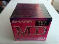 Sharp Blank Minidisc 10pk