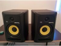 2 x KRK Rokit 6 G3 studio monitors. Used but in great condition.