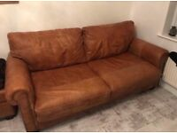 Great price DFS sofa set! 2 seater sofa bed/ arm chair and ottoman footstool