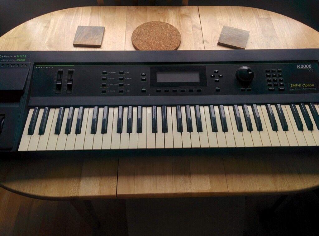 Kurzweil k2000 V3 Vintage Synthesizer Keyboard ++ EXPANSIONS ROMS + SMP-K  input! | in Leith, Edinburgh | Gumtree