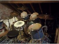 Pearl Export Series Drum Kit with extra cymbals and double bass drum pedal