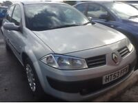 2003 RENAULT MEGANE 1.5 DIESEL SALOON+11 MONTH MOT+FULL VOSA HISTORY+ONLY 98,000 MILES+HPI CLEAR