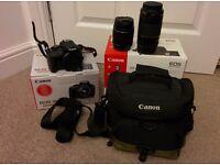 Canon EOS 100D Digital Camera + 18-55mm & 75-300mm Lenses + Accessories
