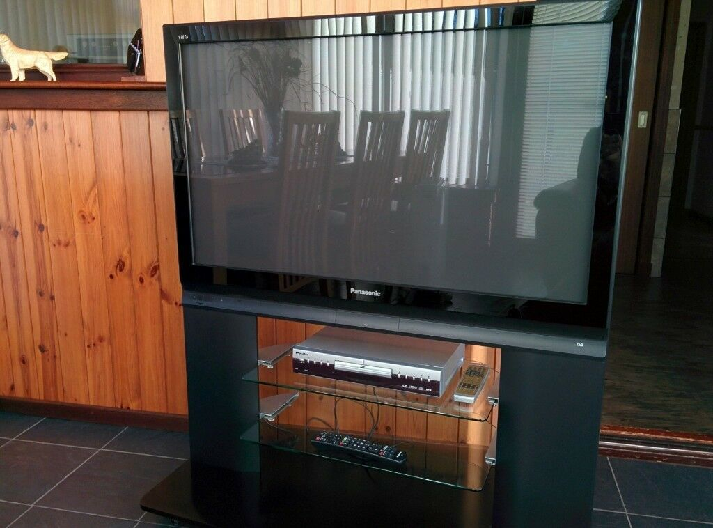 Panasonic Viera 42 Inch Plasma Television Stand And Dvd Player In