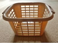 Addis Biscuit Brown Speckled Square Laundry Basket Clothes Washing Holder Container