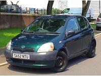 2003 52 Reg Toyota Yaris 1.0 Litre 5dr 12 Months MOT Good Little Runner