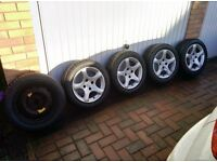 "Peugeot cyclone 15"" alloys with nearly new Toyo Proxes T1R tyres"