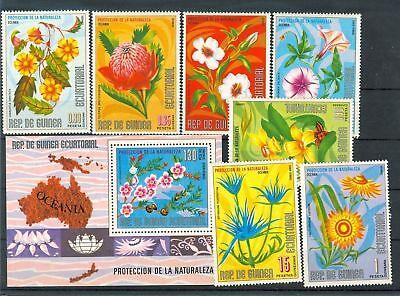 FIORI - AUSTRALIAN FLOWERS GUINEA EQUATORIAL 1976 a