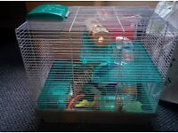 Hamster Cage and large collection of accessories for sale