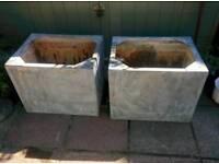 Metal garden planters/ water tanks