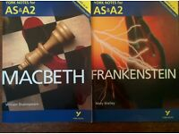 English Literature - York Notes - Macbeth / Frankenstein / A View From The Bridge (AS & A2)