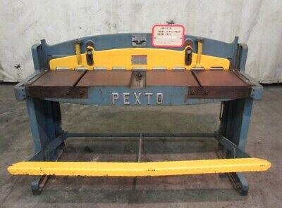 Roper Whitney Inc. Pexto Sheet Metal Shear Model 152k 52 Shearing Length