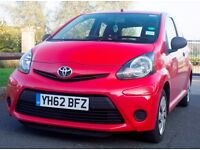 FOR SALE TOYOTA AYGO 1.0 VVTi 3 DOOR IN RED. FULL SERVICE HISTORY ONE LADY DRIVER FROM NEW