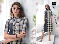 FOUR BUTTONS CHECKS NX WHOLESALE PARTY WEAR HANDLOOM KURTI COLLECTION