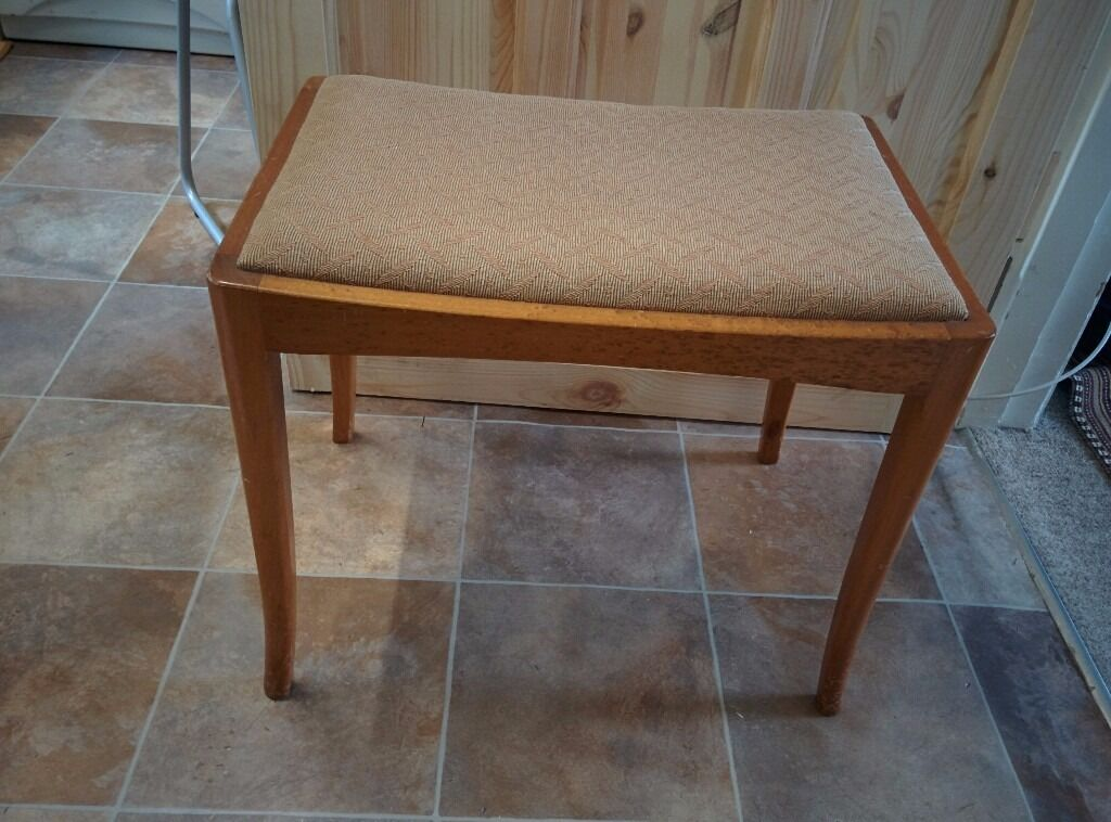 A Wooden Piano/Dressing table stool