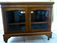 "tv cabinet. Made from burr walnut. Ideal for 32"" tv."