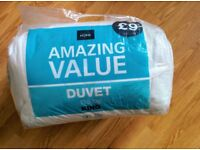 King Size Duvet 10.5 TOG. Original price £9