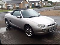 MGF Convertible car excellent condition, well maintained only 51000 miles from new