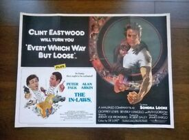 every which way but lose ' clint eastwood ' plus ' love & bullets ' two original cinema posters