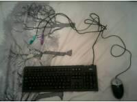 Fujitsu Keyboard + HP Mouse + PS/2 to USB Converter
