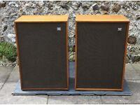 Wharfedale Melton 2 - Rare vintage 1970's hi-fi stereo loudspeakers. Working.