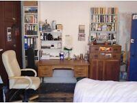 Old wooden linen cabinet (2 drawers, 2 doors, 2 shelves)