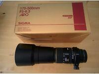 Sigma 170-500mm F5-6.3 APO DG Lens - Sony Fit