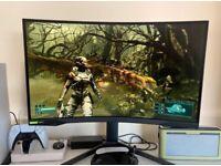 Samsung Odyssey G7 Curved Gaming Monitor, 27 Inch