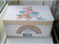 Storage boxes hand painted