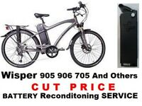 WISPER 905 906 705 36v Electric Bike Battery Service .
