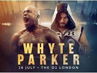 4x Lower Tier Dillian Whyte vs Parker Tickets