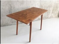 1960's British Wood Grain Formica Extendable Kitchen Dining Table By 'Dinette'
