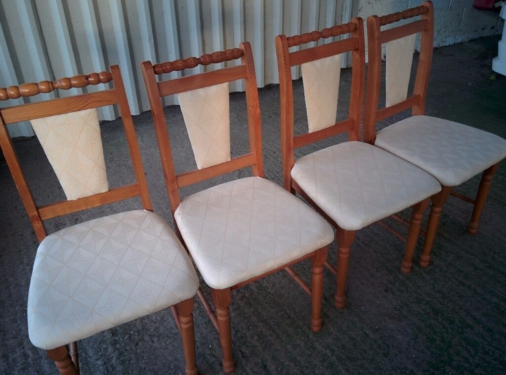 Set of six Modern Solid Pine Dining Chairs