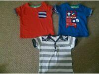 Baby boy t-shirts 9-12 months