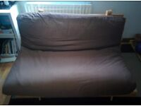Futon Company Double Sofa Bed Brown