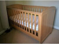 Padstow Cot Bed. Excellent condition. With mattress