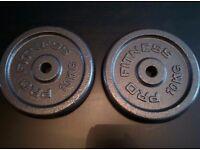 2 x 10kg Cast Iron Plates