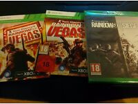 Unopened sealed Rainbow Six Seige for Xbox One + r6 VEGAS 1+ 2 unused download code cards