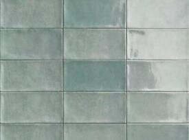 Emerald green tiles