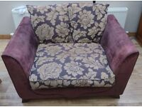 Purple love seat / cuddle chair / 1.5 seat sofa (basically a big armchair)